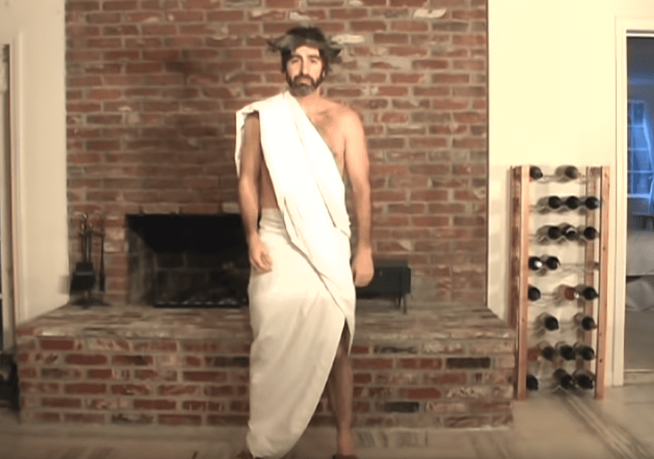 DIY Toga Out Of A Bed Sheet