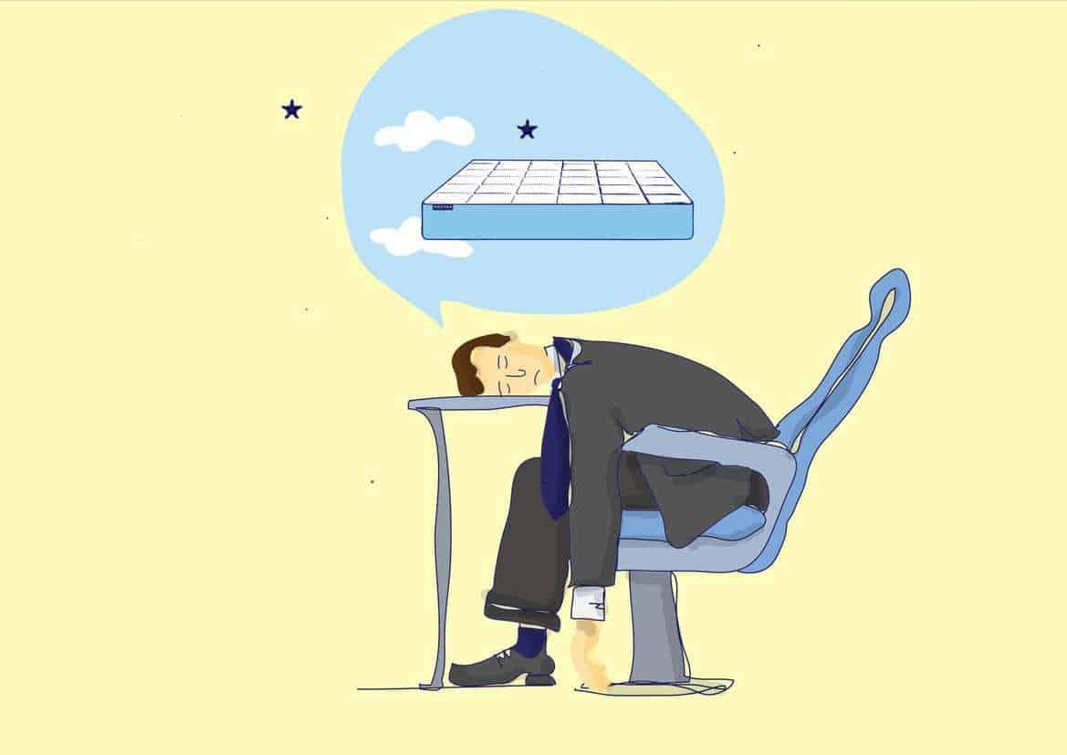 Sleeping at Work Illustration