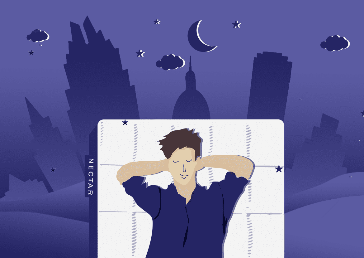 sleeping on your back-Nectar Mattress Illustration