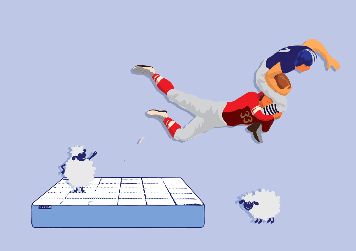 Super Bowl - Nectar Mattress illustration