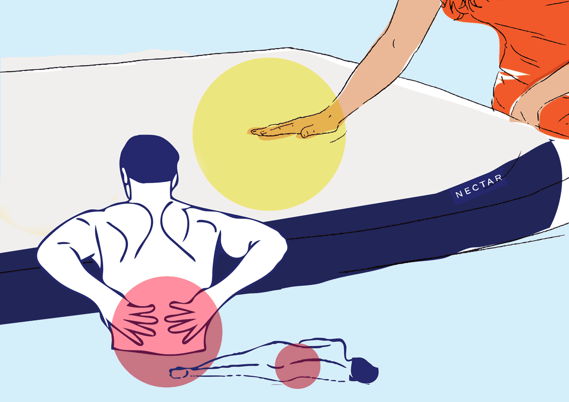 mattress for lower back pain illustration