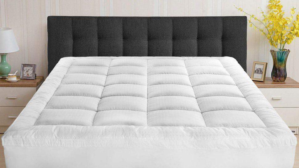 Pillow top mattress on a bed