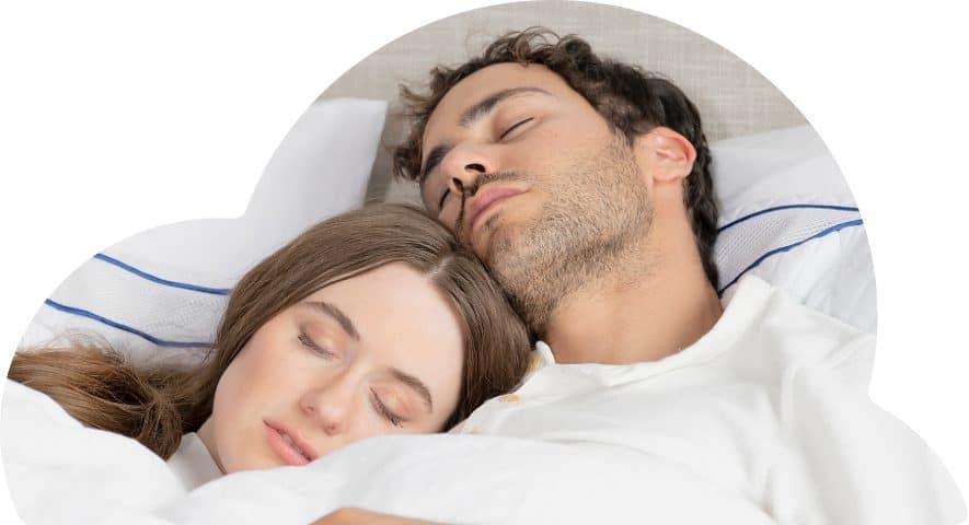 Mattress financing with affirm - Couple sleeping on nectar mattress