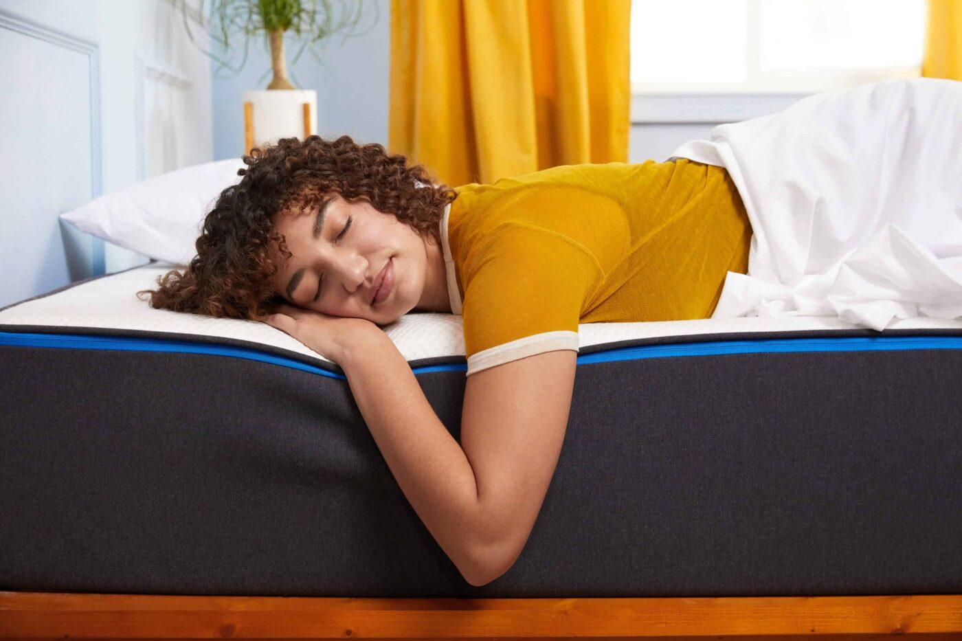 girl sleeping peacefully on nectar mattress
