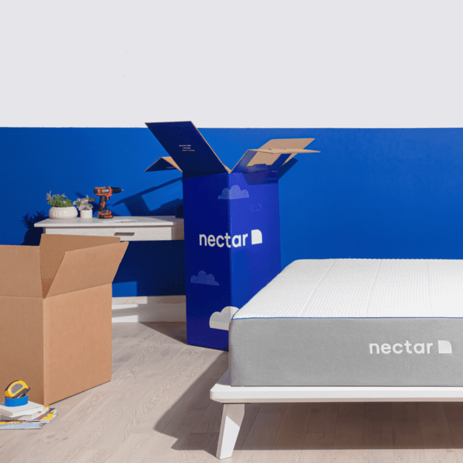 Nectar Mattress Blue Room DIY
