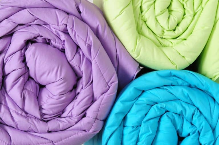 Comforters in different colors