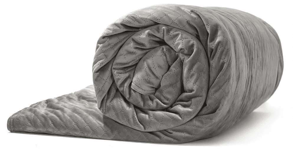 A Gray Colored Weighted Blanket