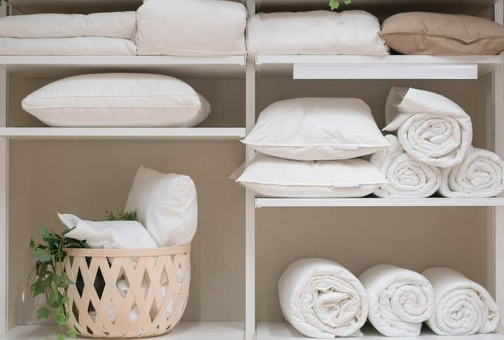 Duvets and Pillows Stored