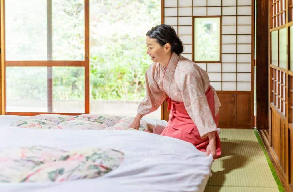 Futon Mattress in Japanese Home
