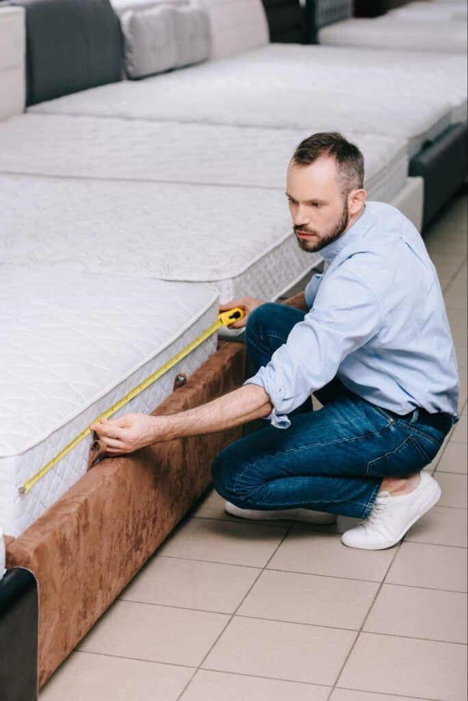 Measuring a Mattress with Tape