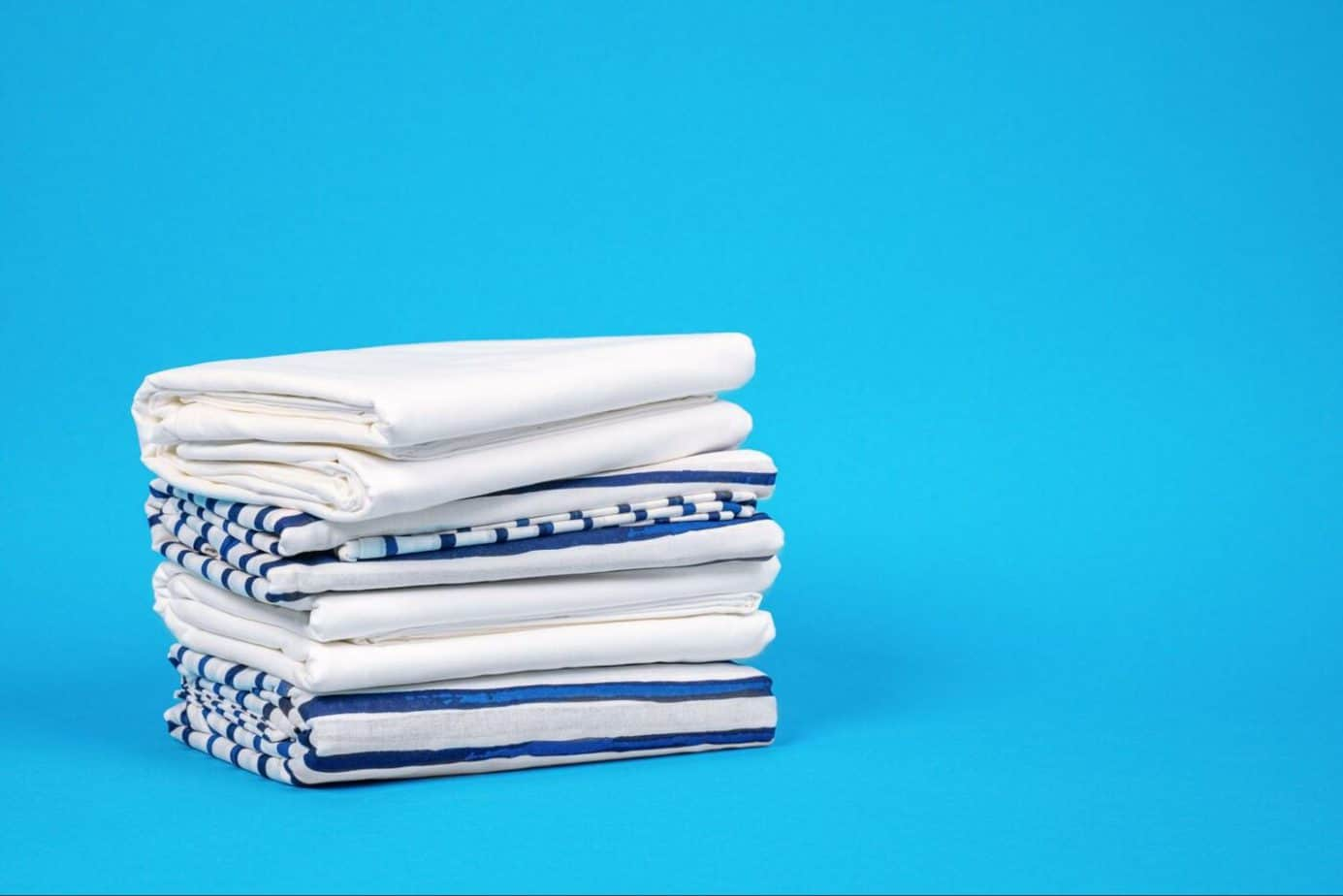 A set of percale and sateen sheets
