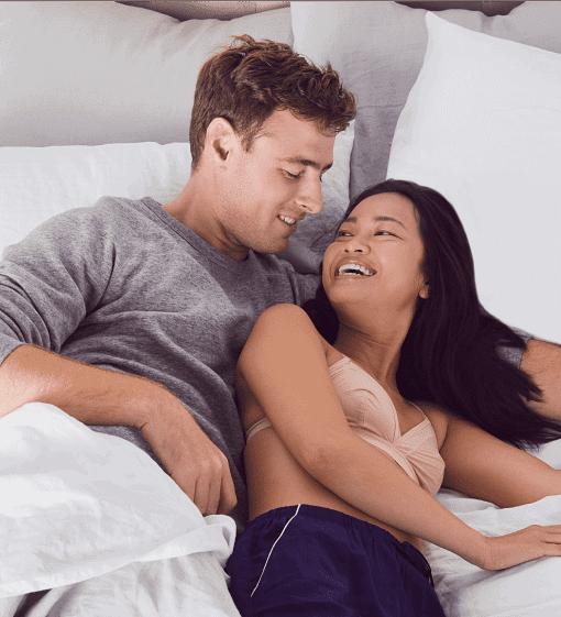 young couple enjoying on Nectar mattress