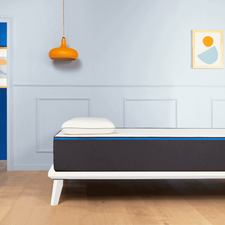 """Twin mattress with bed frame (standard twin mattress size is 39"""" x 75"""")"""