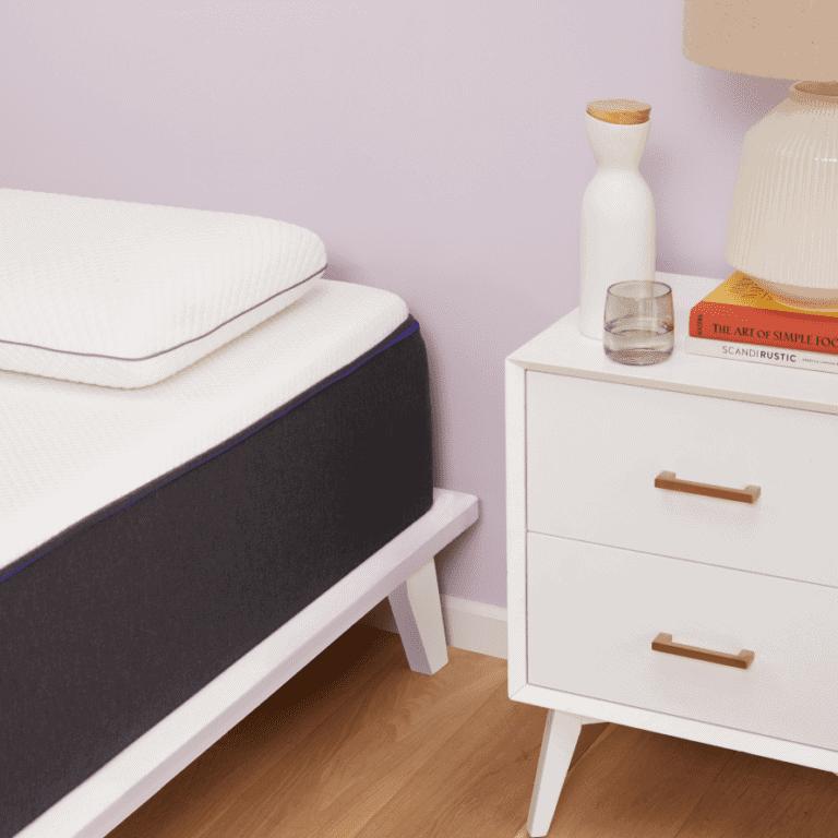 "Twin XL mattress with bed frame (standard twin XL mattress size is 39"" x 80"")"