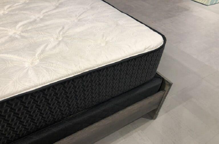 A mattress placed on a mattress foundation