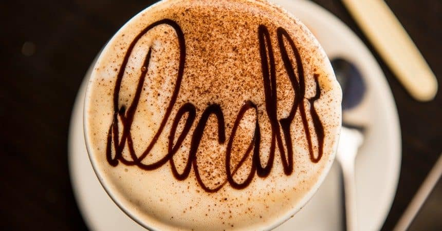 Decaffeinated Coffee Dusted With Cocoa